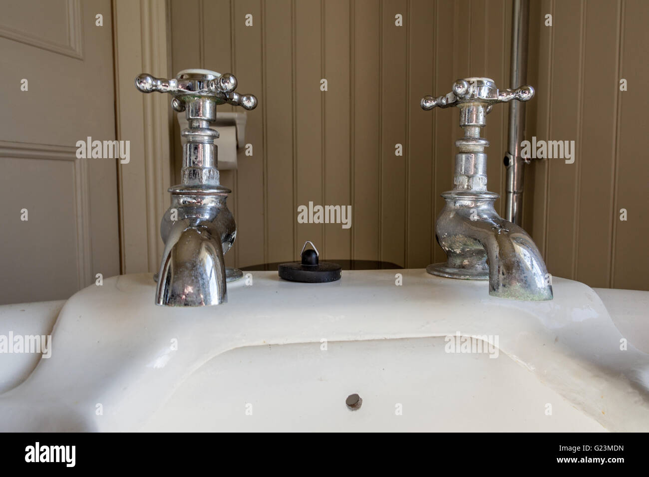 Hot and Cold taps - Stock Image