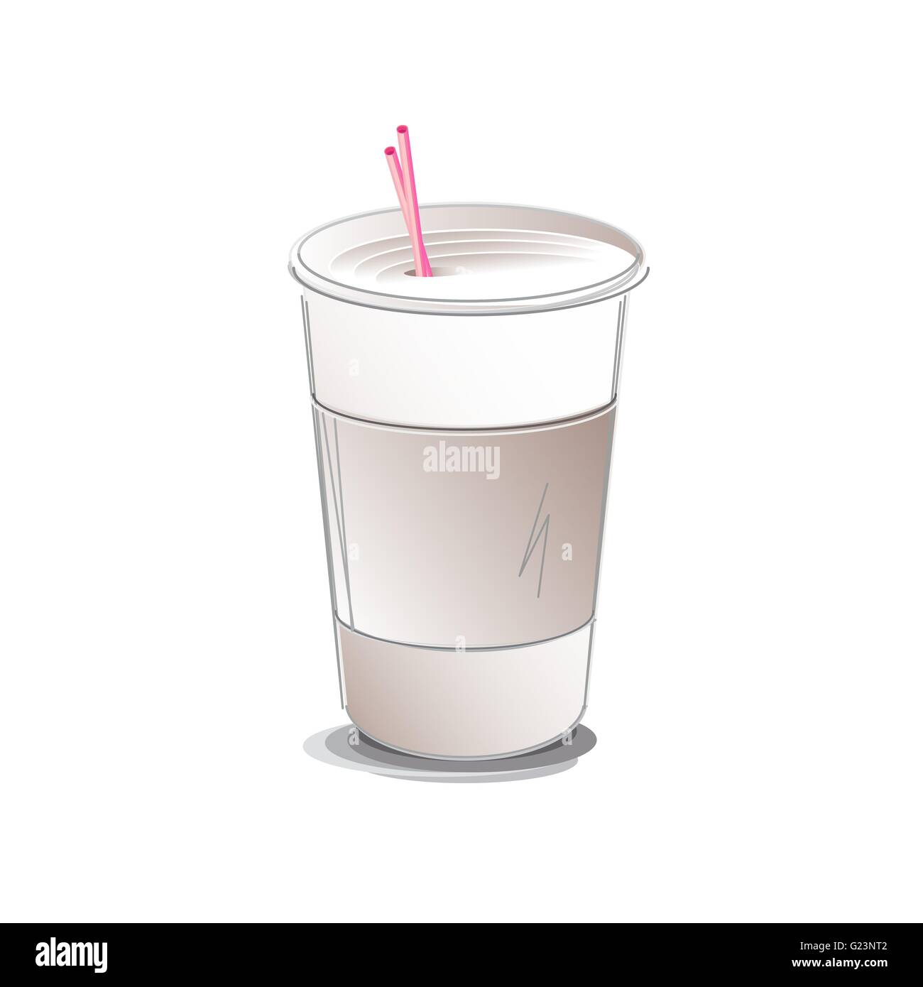 Coffee Cup vector illustration - Stock Image