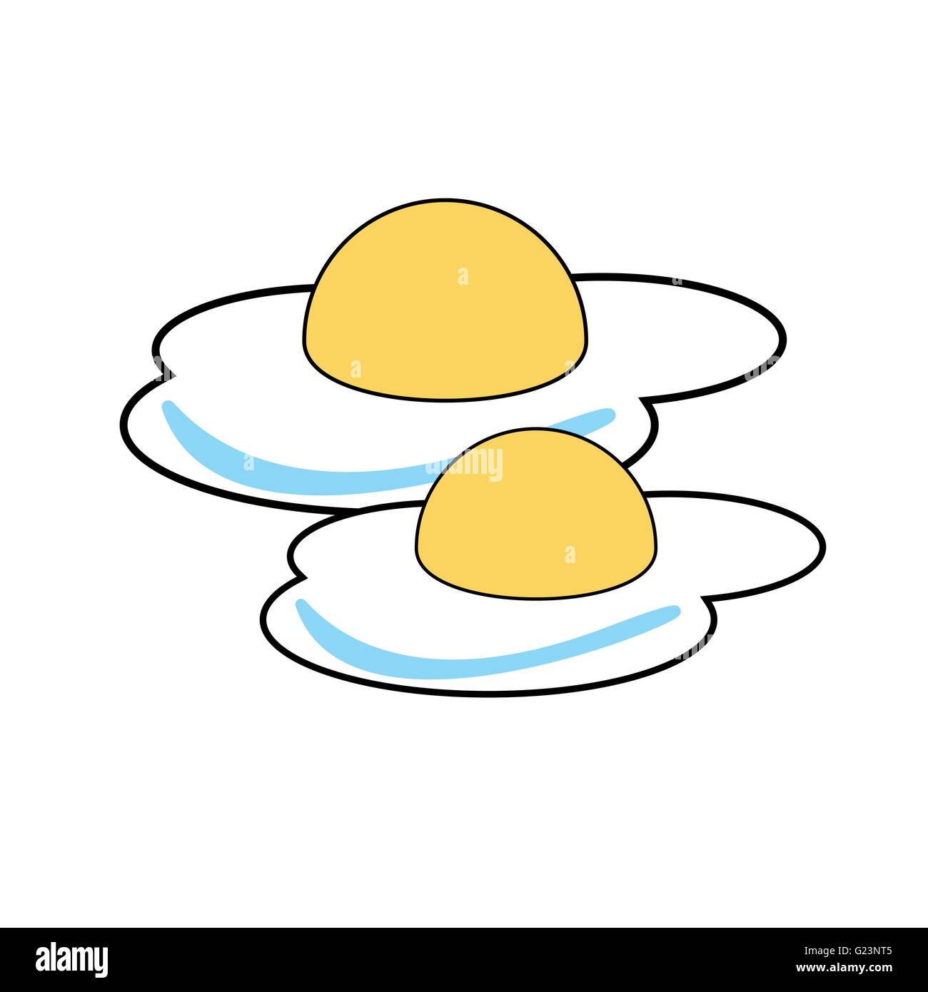Fried Eggs vector illustration - Stock Image