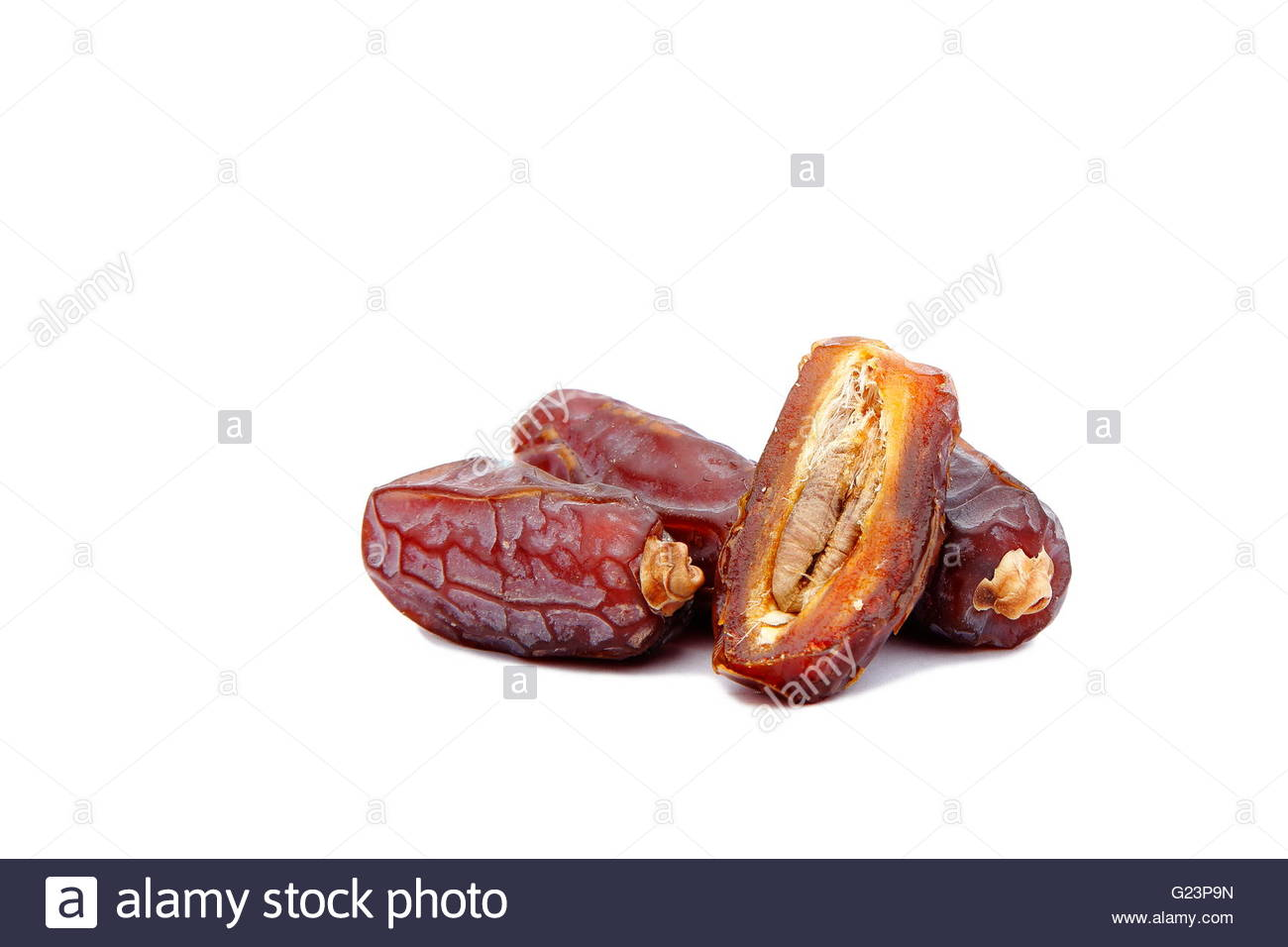 Dried Dates in close-up - Stock Image - Stock Image
