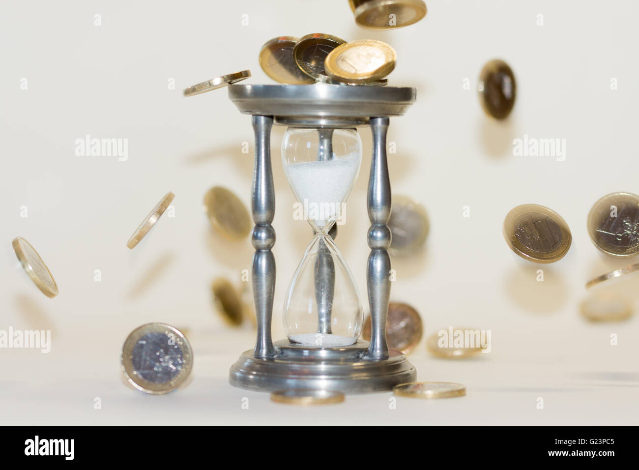Theme - 'time is running out for the Euro' - Stock Image