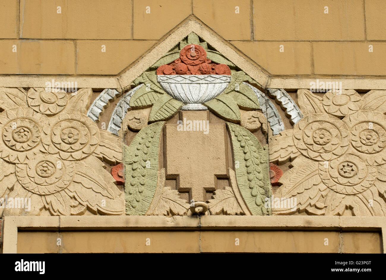 Art Deco sculpture, City Hall, Spokane, Washington Stock Photo ...