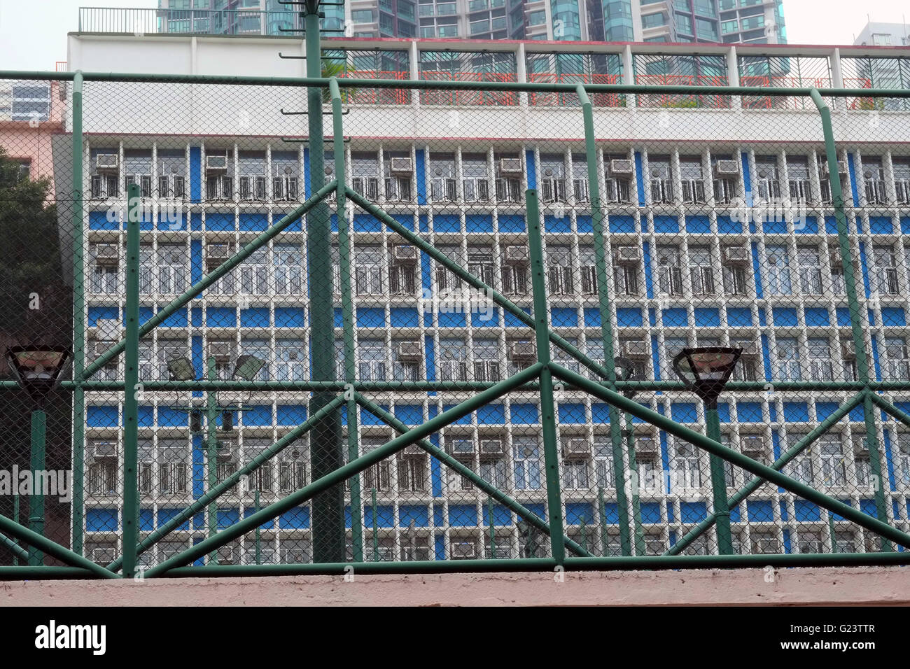 Urban high density architecture in Hong Kong. - Stock Image