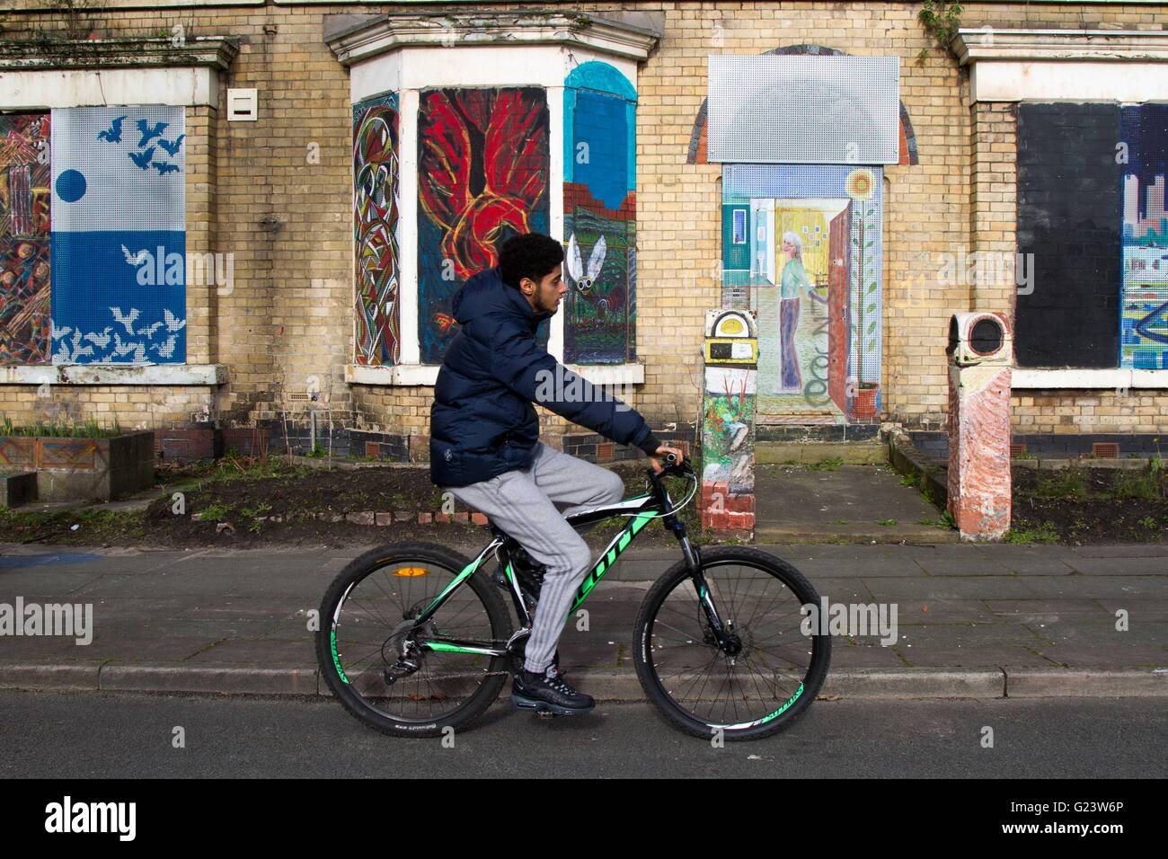 Granby Four Streets area of Toxteth, Liverpool, where Assemble helped the local community renovate homes and gardens. - Stock Image