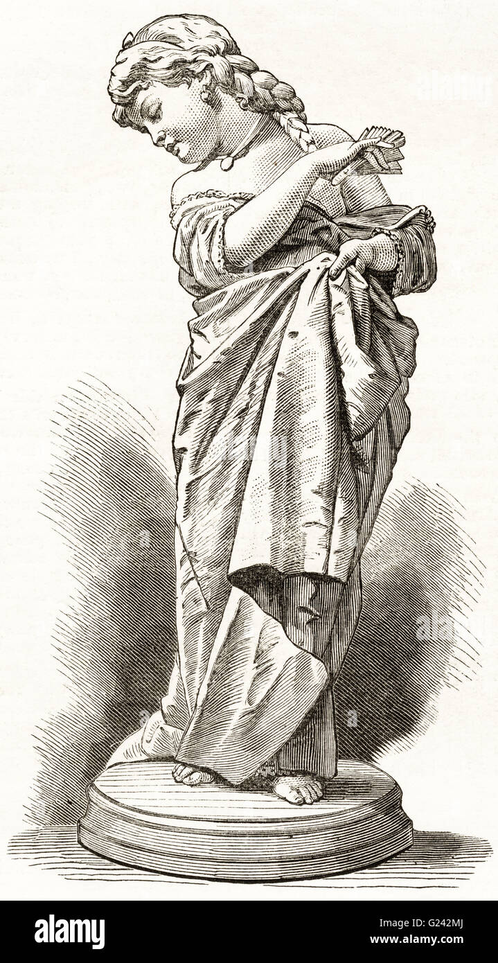 VANARELLA by the aritst F. Baraghi. Victorian woodcut engraving dated 1875 - Stock Image