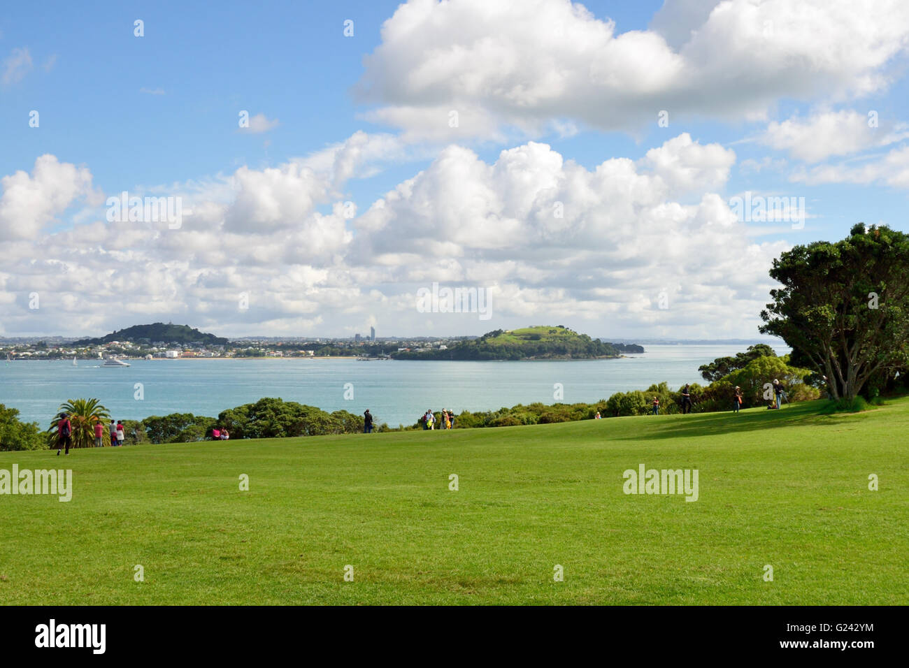 Devonport from Bastion Point, Auckland - Stock Image