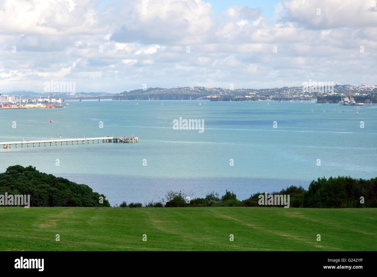 Waitemata Harbour, Bastion Point, Auckland - Stock Image