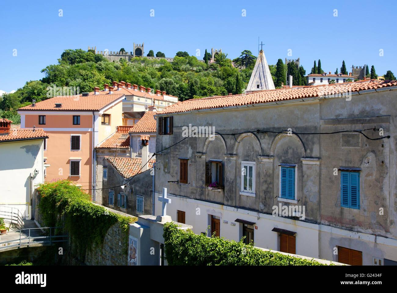 Piran (Pirano) is a town in southwestern Slovenia on the Gulf of Piran on the Adriatic Sea - Stock Image