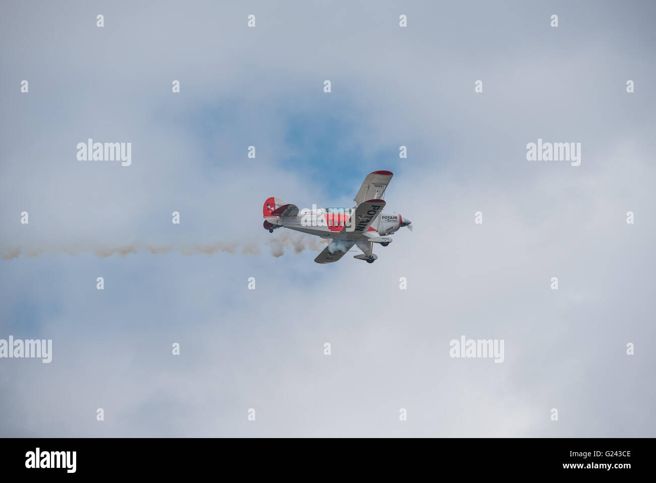Pitt Special flying at the Lowveld Airshow - Stock Image