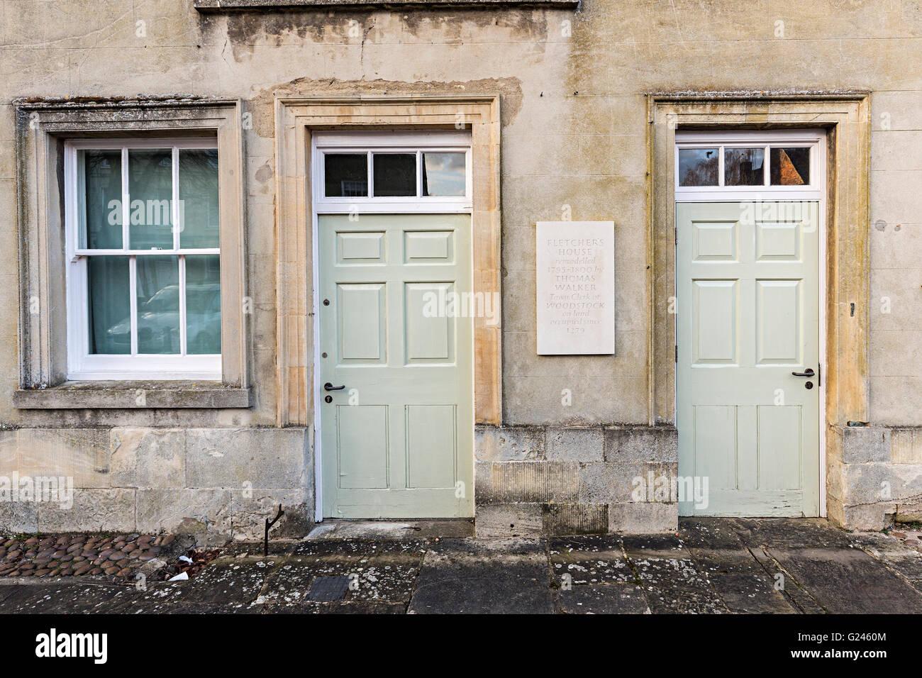 Fletcher's house, Woodstock, Oxfordshire, England, UK - Stock Image