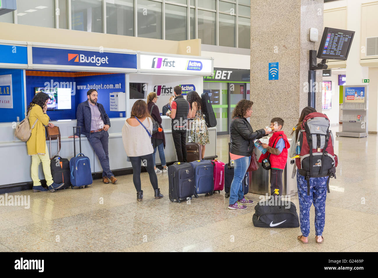 budget car rental at msp airport	  Car Hire Airport Stock Photos