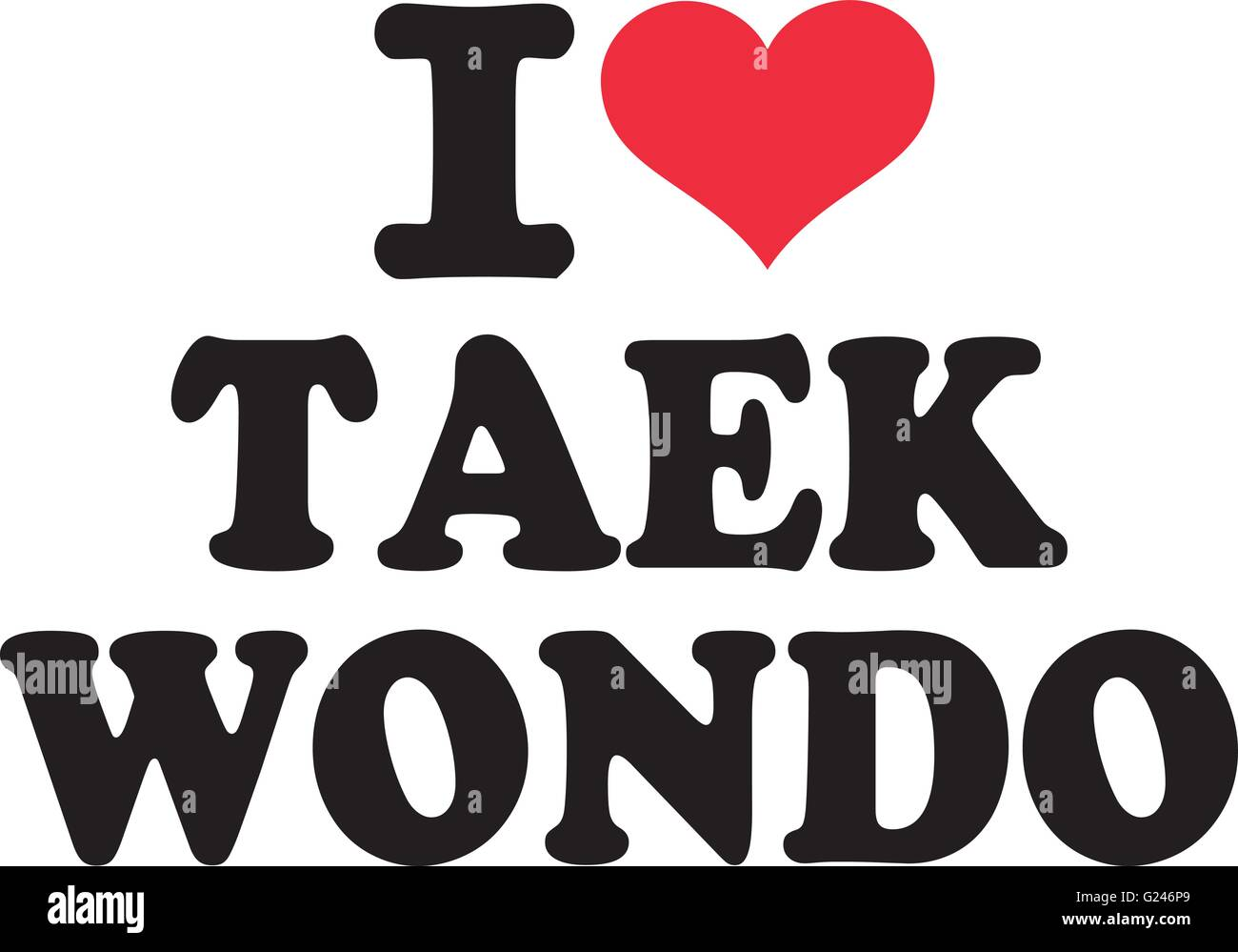 Taekwondo Stock Vector Images Alamy