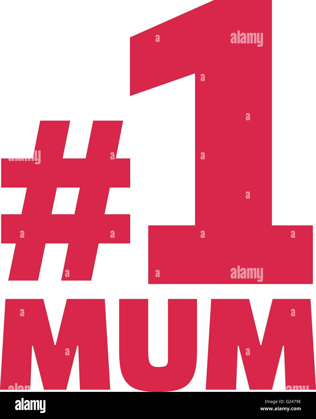 Number One Mum - Stock Vector