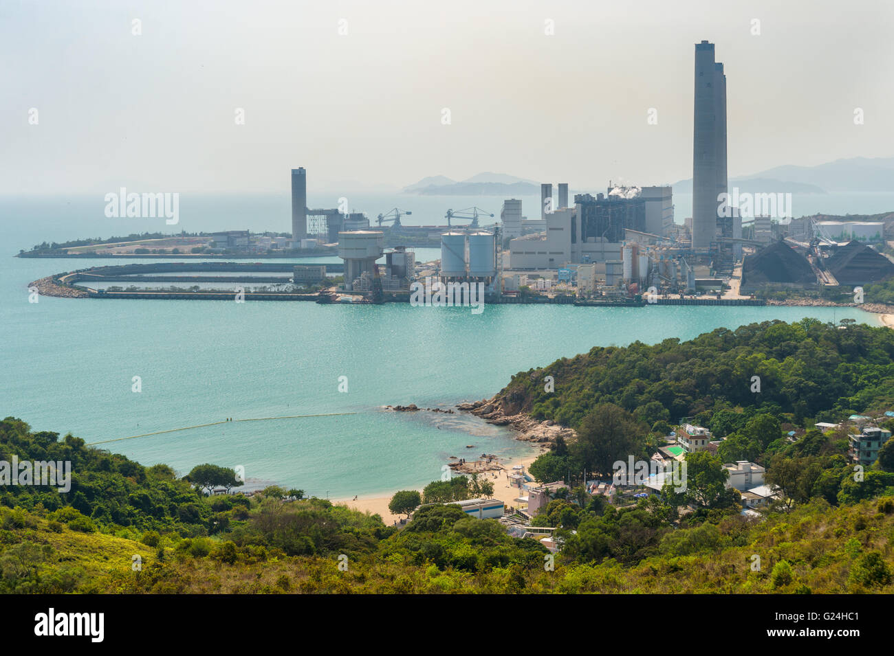 Lamma Power Station on Lamma Island, near Honk Kong, China - Stock Image
