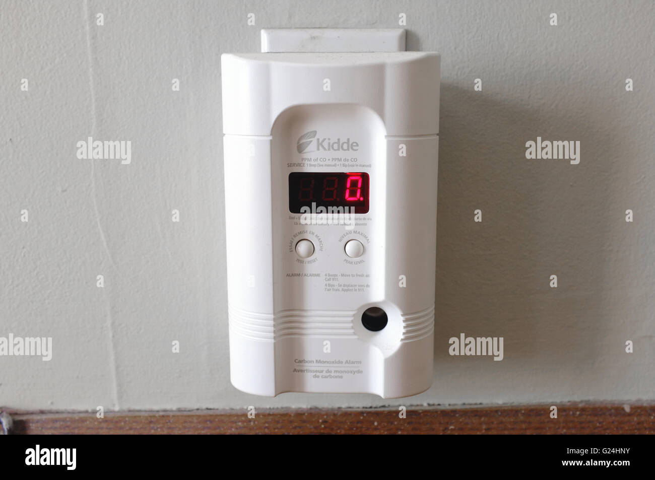 A household plug-in carbon monoxide reader Stock Photo: 104593271 ...