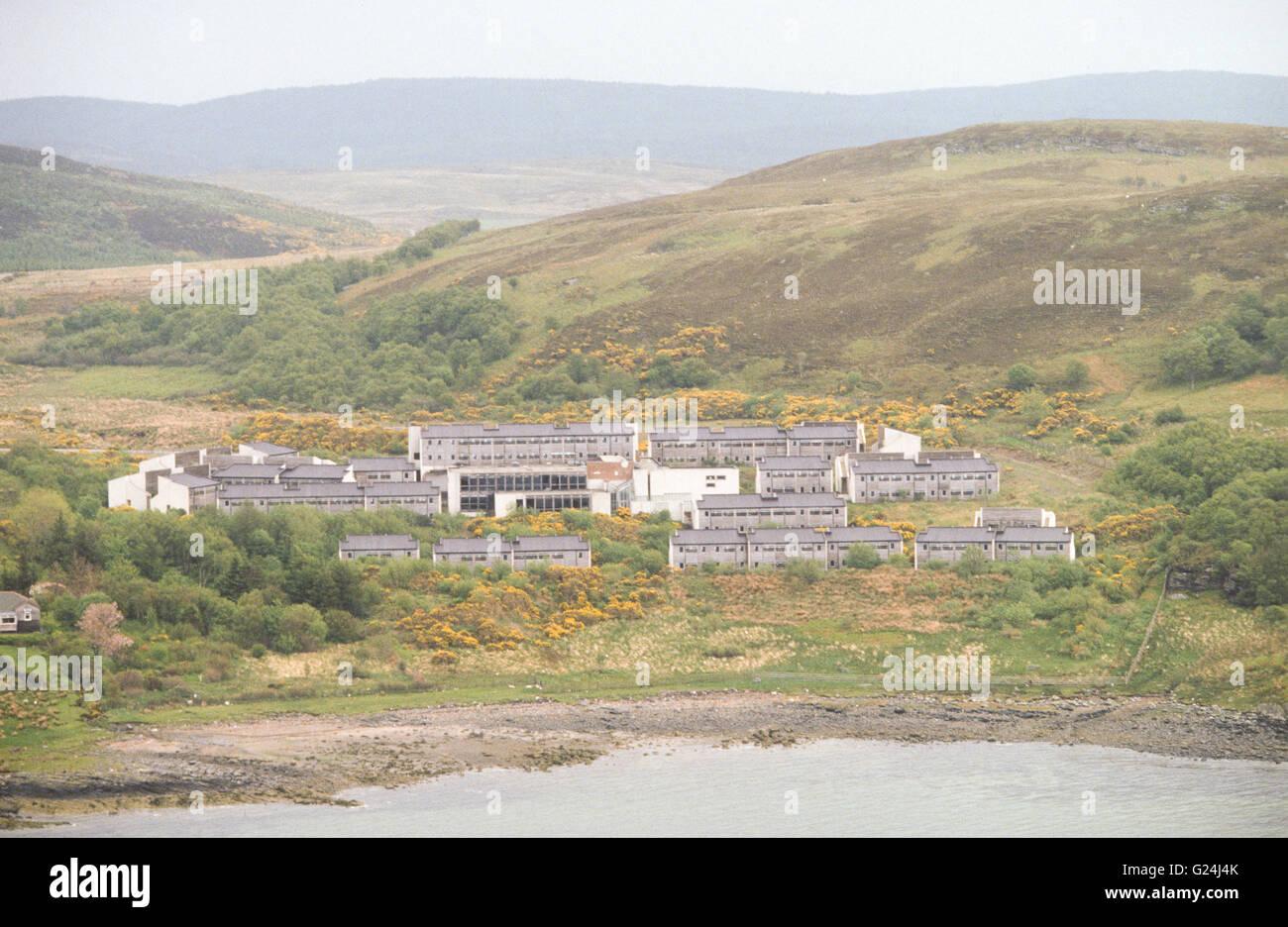 Unused construction village at Portavadie in Argyll. - Stock Image