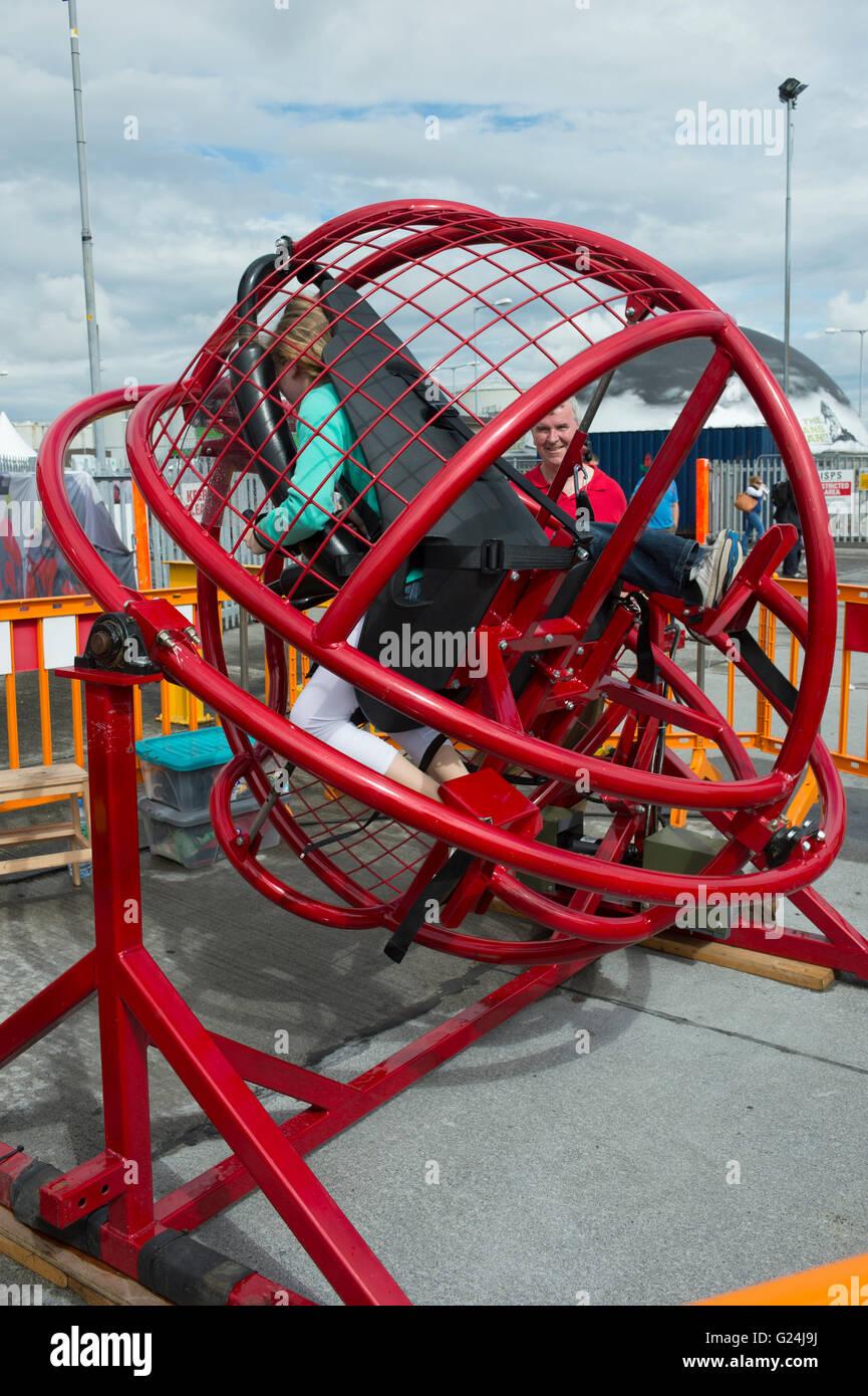 Gimbal fair ride. - Stock Image