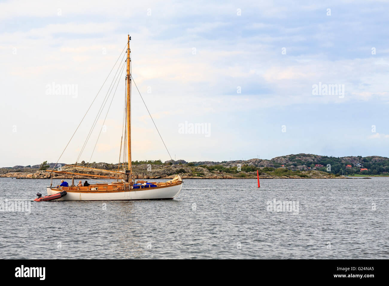 Old Wooden Sailboat In The Archipelago On The West Coast Of Sweden