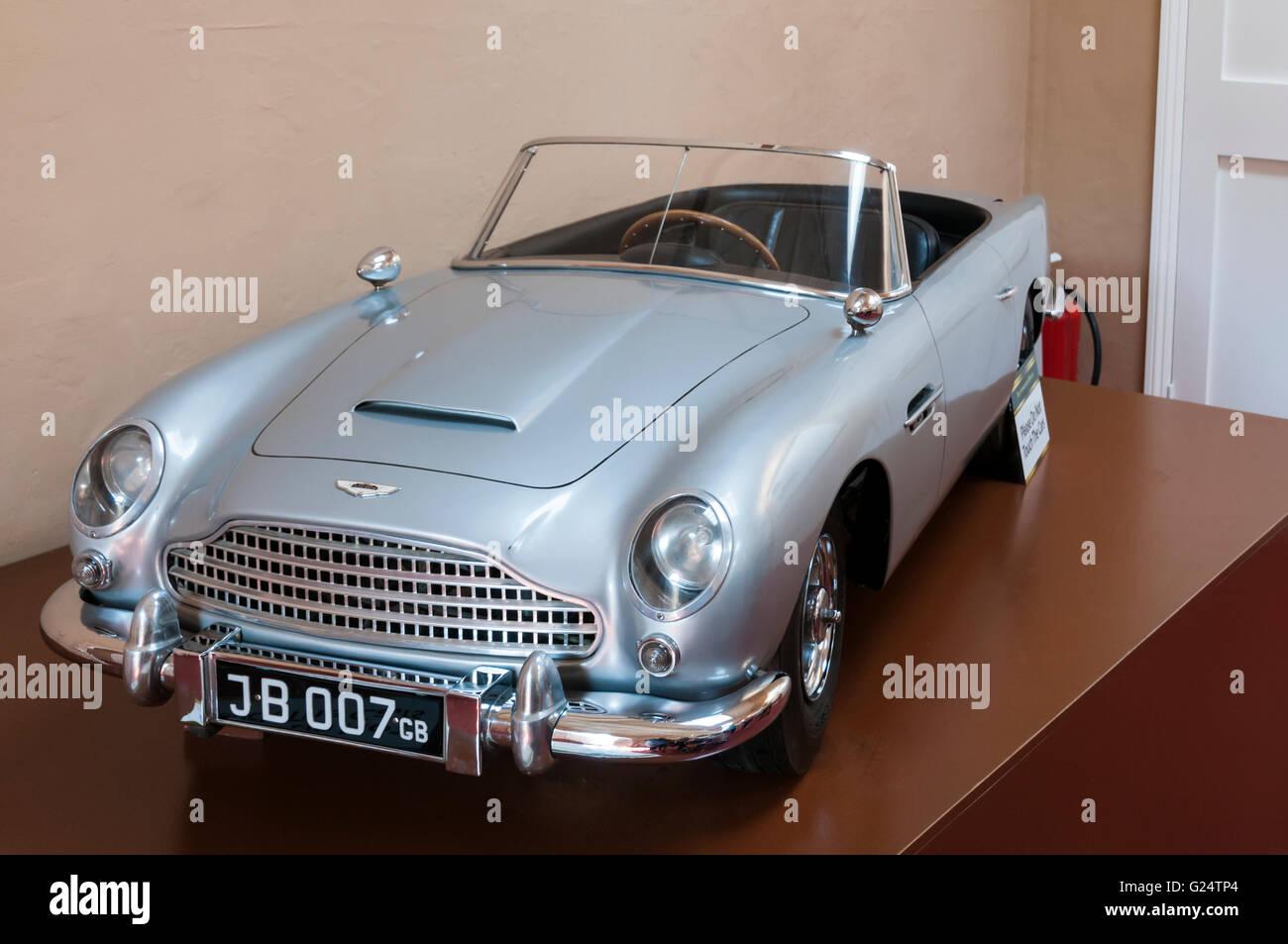 Model replica James Bond Aston Martin made for Prince Andrew in 1966.  FULL DETAILS IN DESCRIPTION. - Stock Image