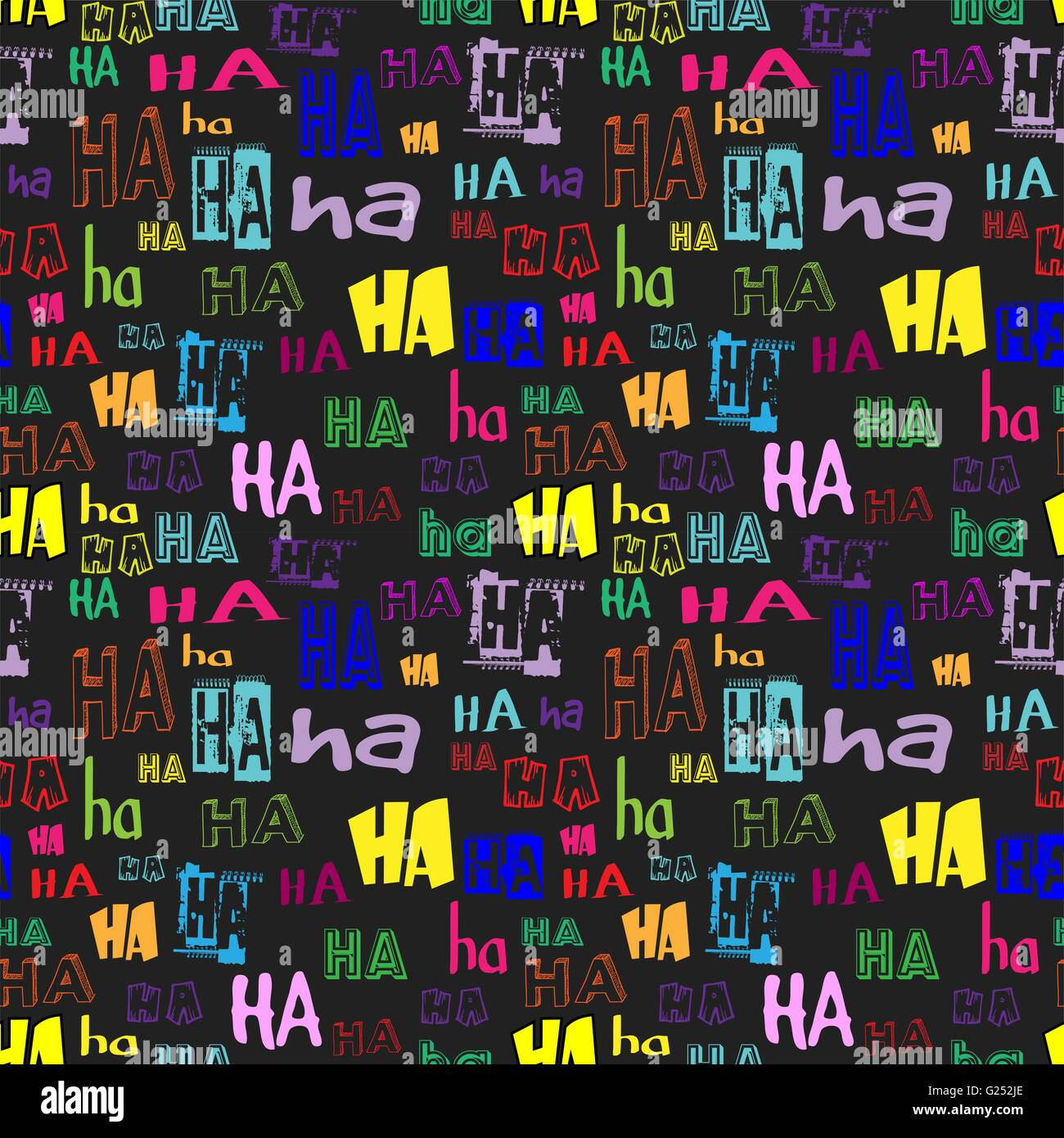 Vector ha ha seamless pattern funny background suitable for paper vector ha ha seamless pattern funny background suitable for paper or textile print card or web background black background colorful letters voltagebd Images