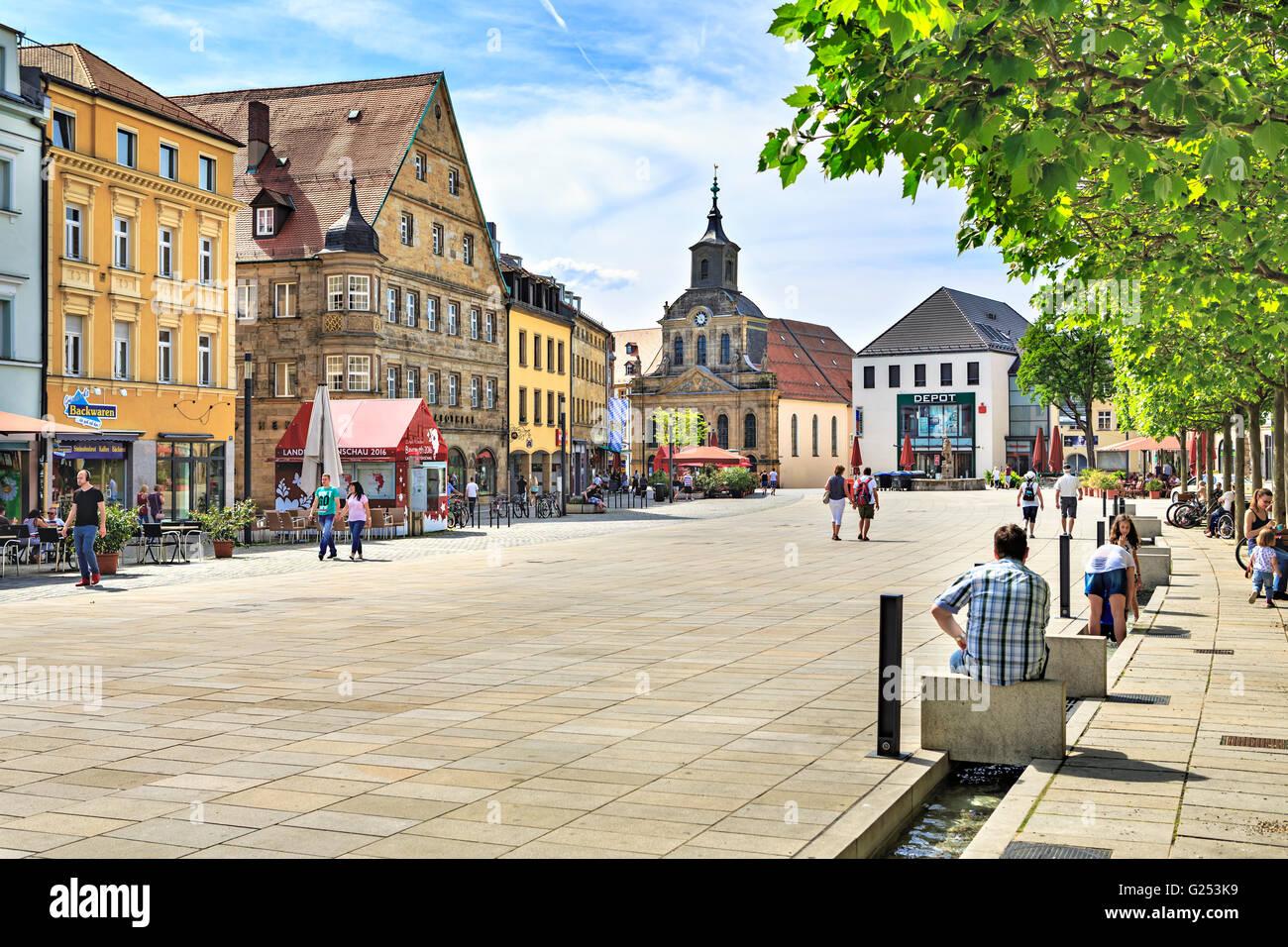 BAYREUTH, GERMANY - CIRCA MAI, 2016: Bavarian Town Bayreuth at Summertime. Bayreuth, Germany - Stock Image