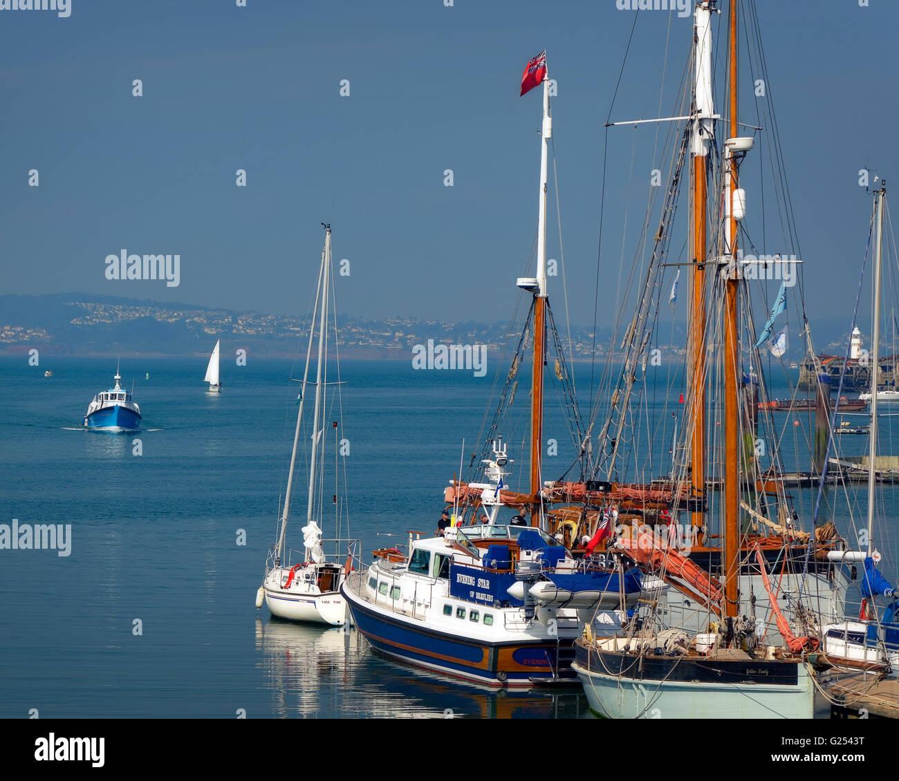 GB - DEVON: Boats at Brixham Quay - Stock Image