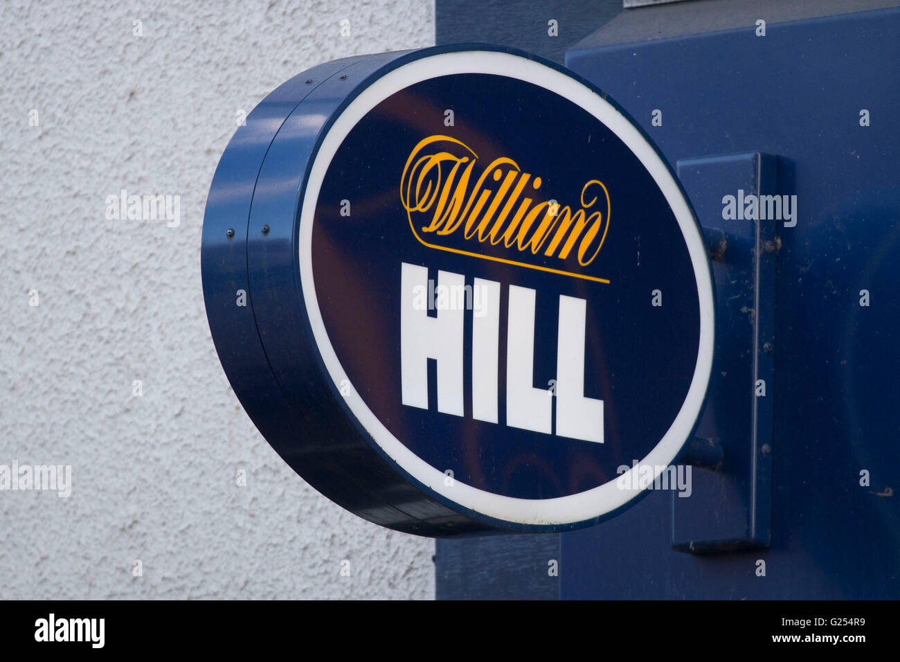 William Hill bookies sign logo - Stock Image