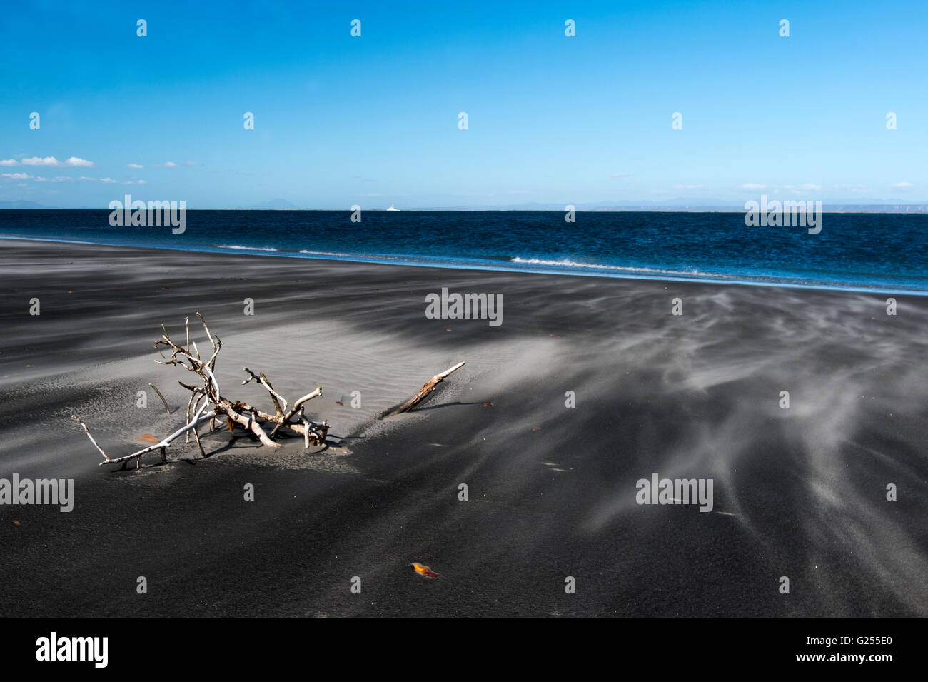 Beach San Ignacio Lagoon, Baja California, Mexico - Stock Image