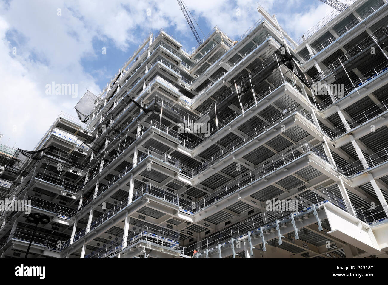 London Wall Place building under construction 2016  London UK  KATHY DEWITT - Stock Image