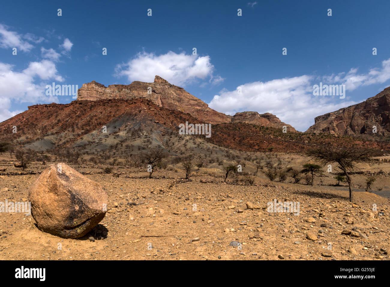 Mountains Gheralta, Ethiopia - Stock Image