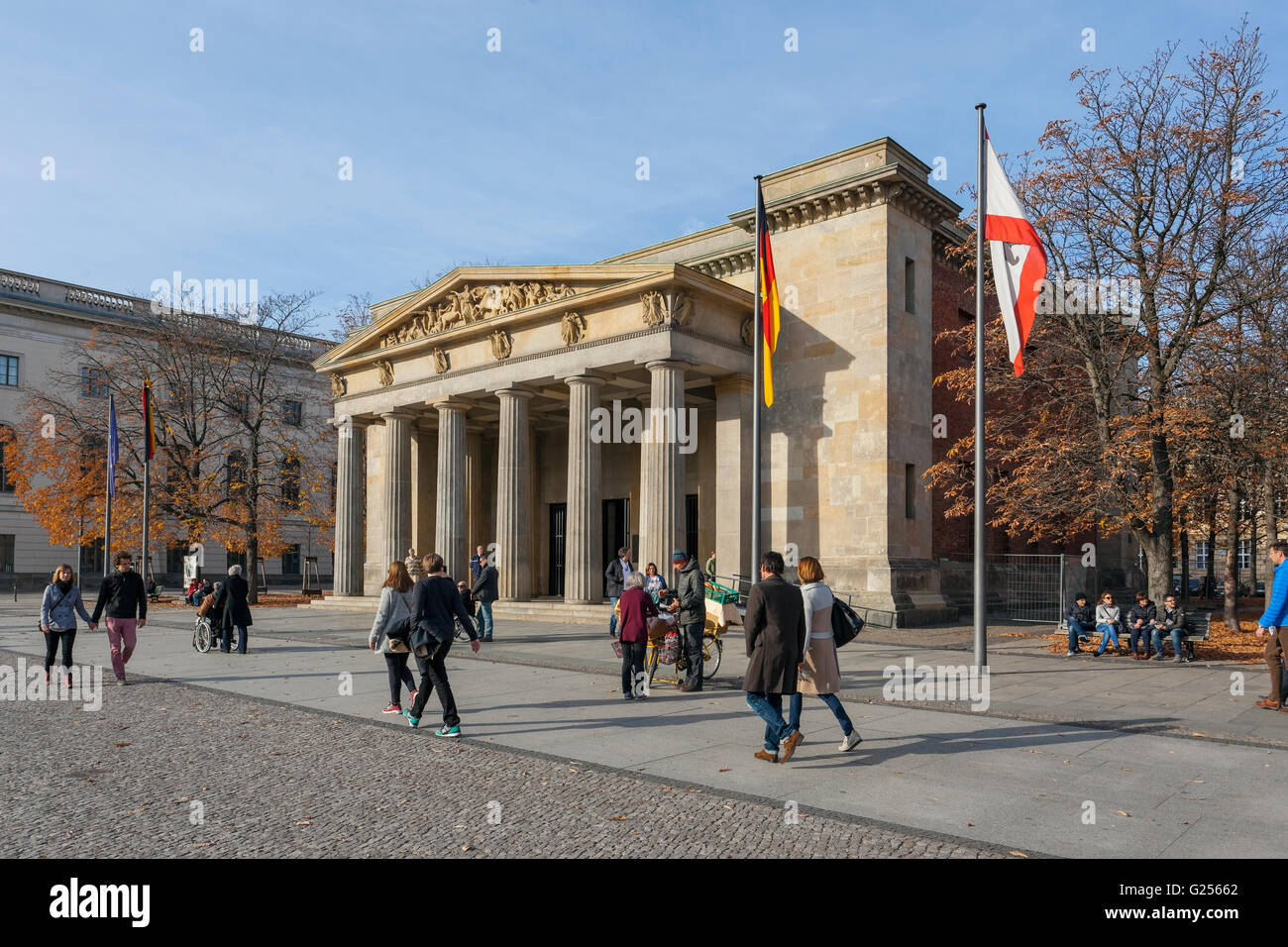Neue Wache, New Guardhouse, Central Memorial of the Federal Republic of Germany for the Victims of War and Dictatorship. - Stock Image