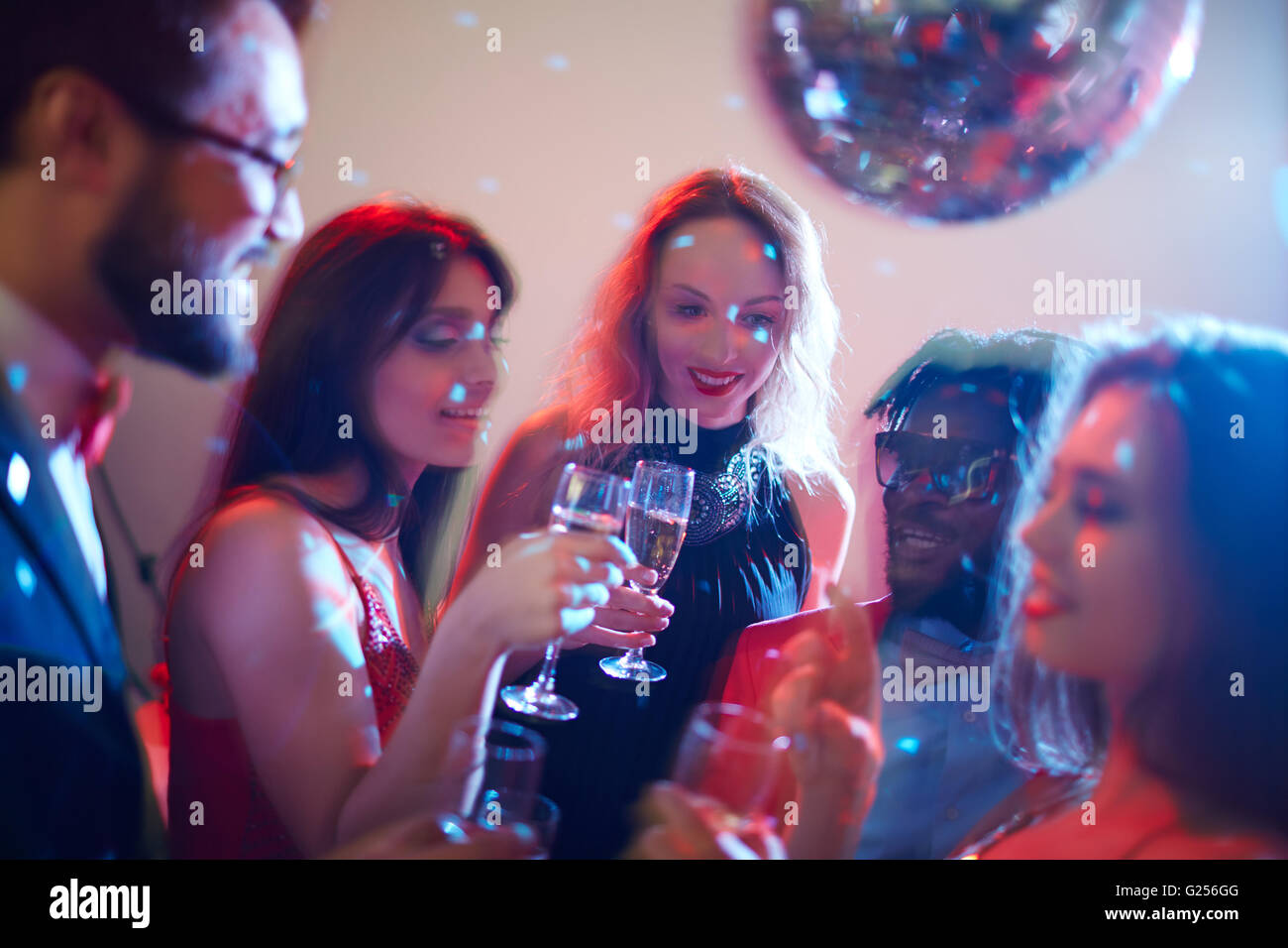 Party with champagne - Stock Image