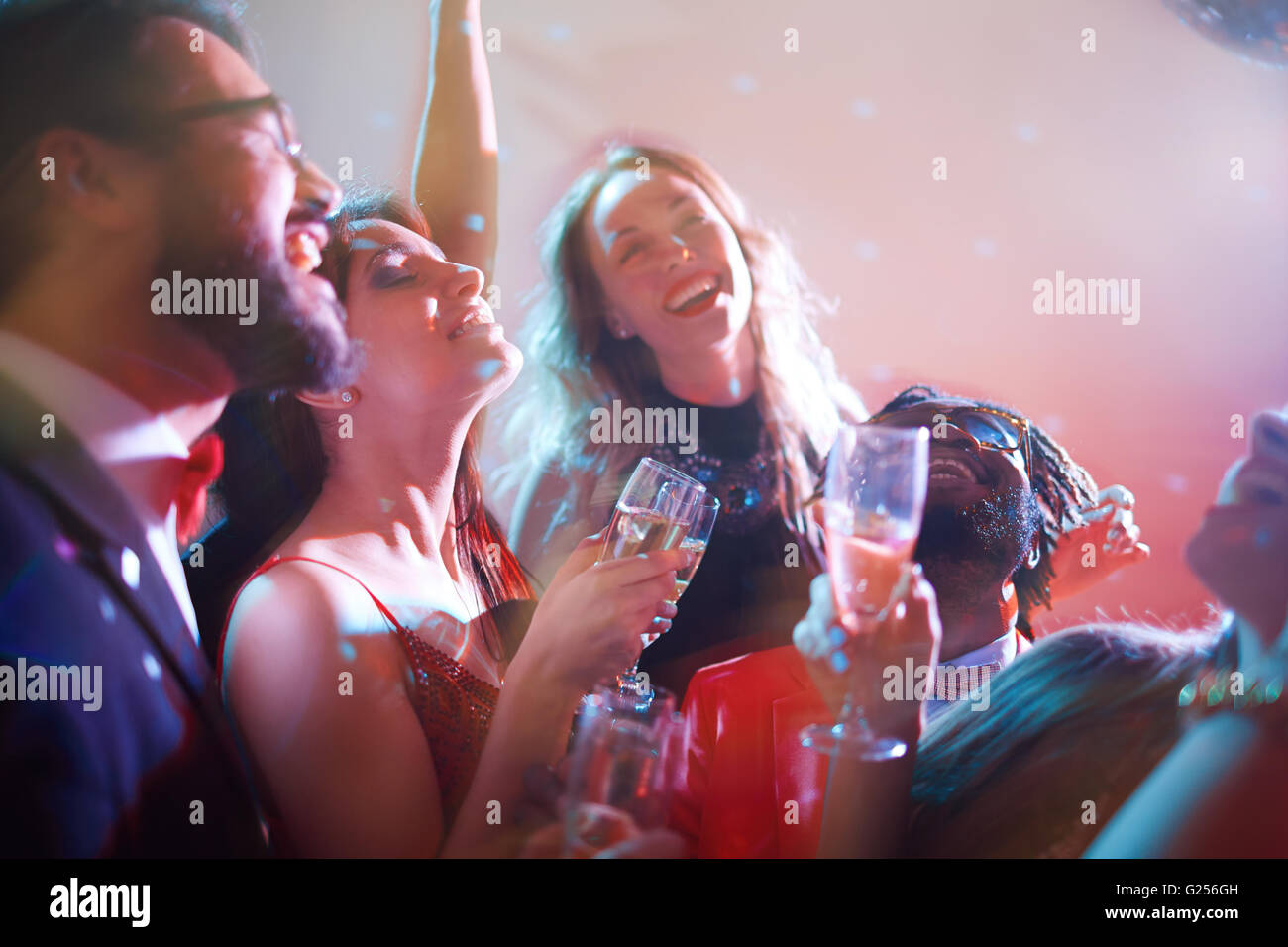 Euphoria of party - Stock Image
