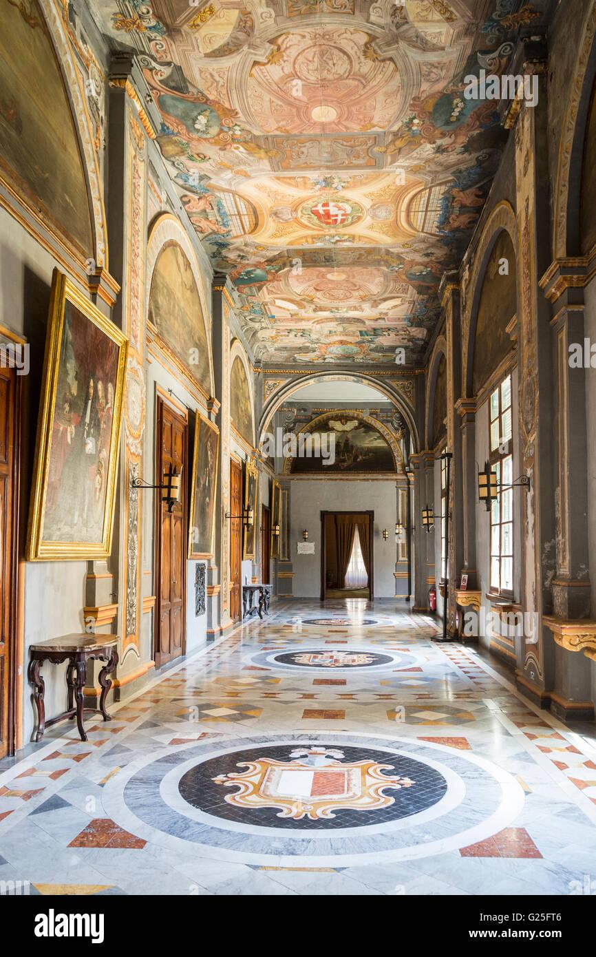 Palace state rooms, Valletta, Malta - Stock Image
