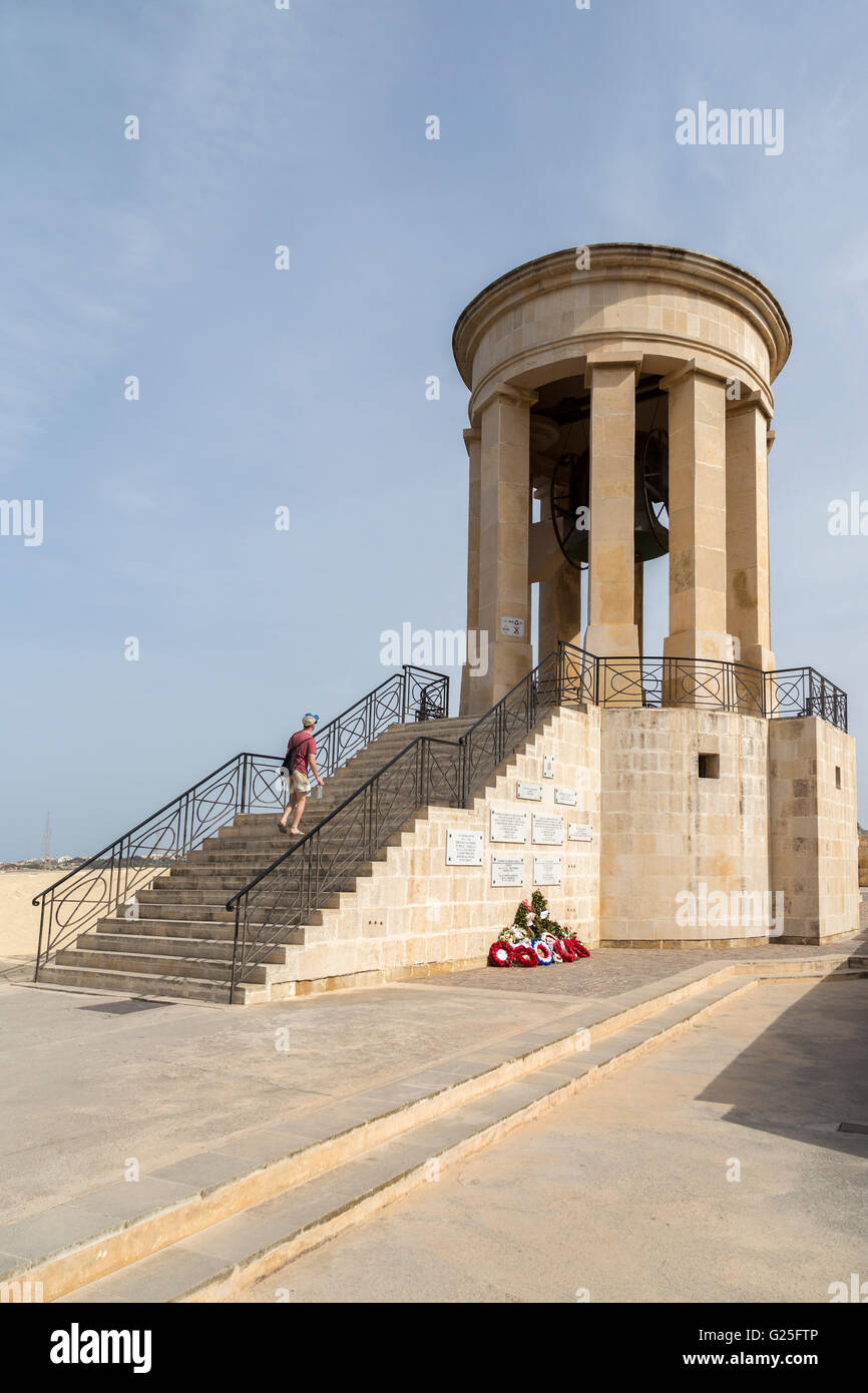 Siege bell, Valletta, Malta - Stock Image