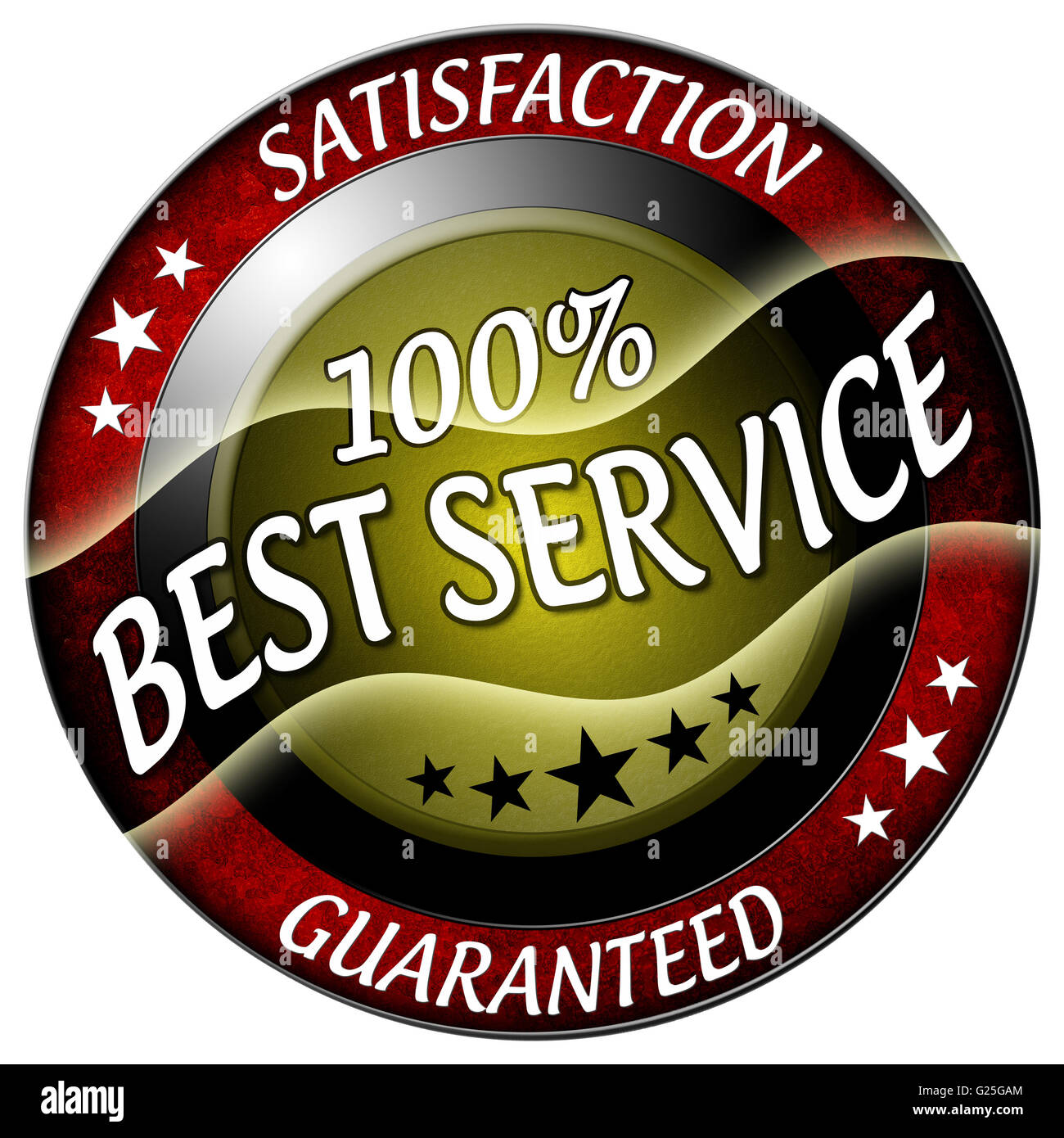 best service round red icon isolated - Stock Image