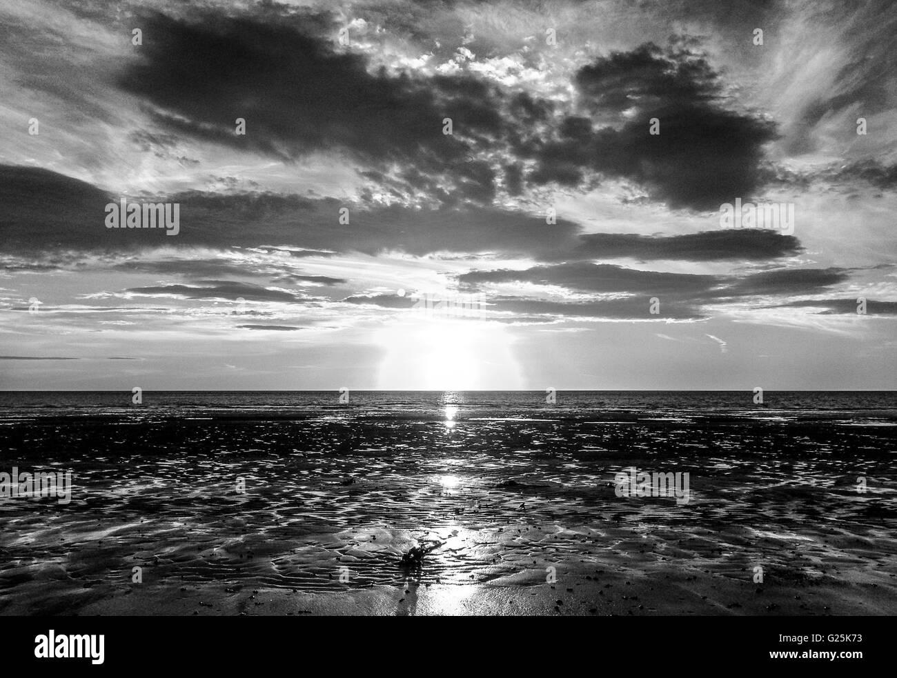 Sunset Glory in Mono........ - Stock Image