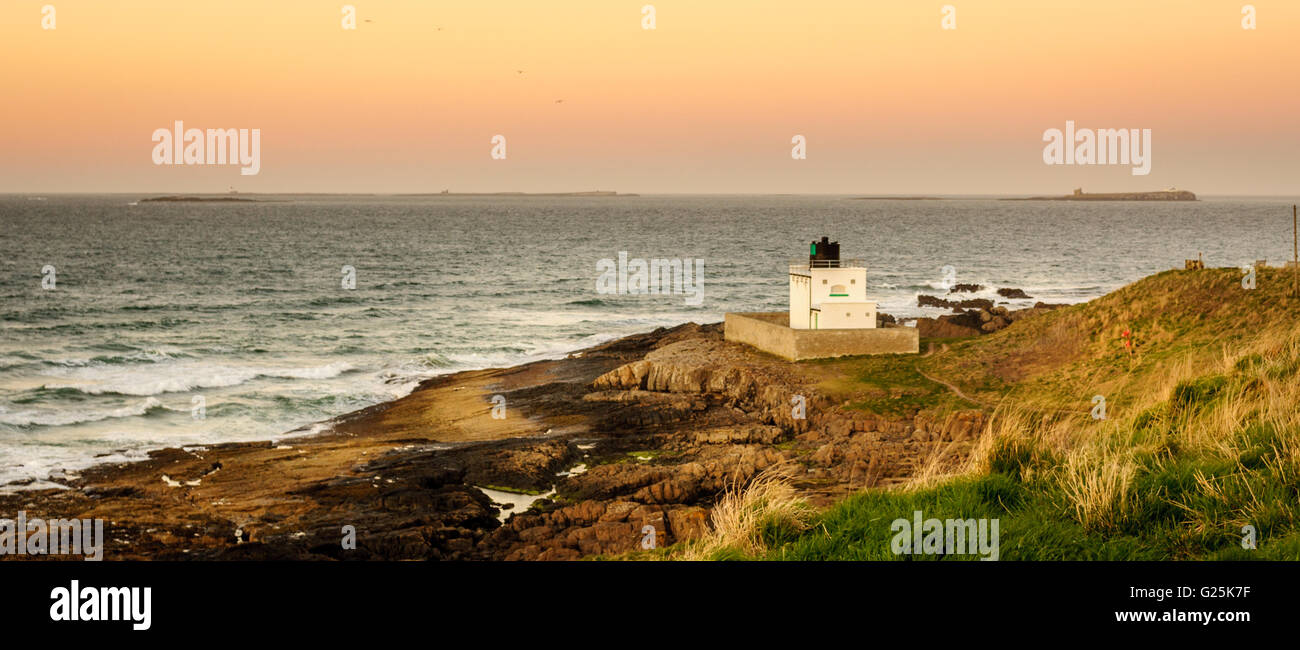 The Lighthouse at Stag Rock Stock Photo