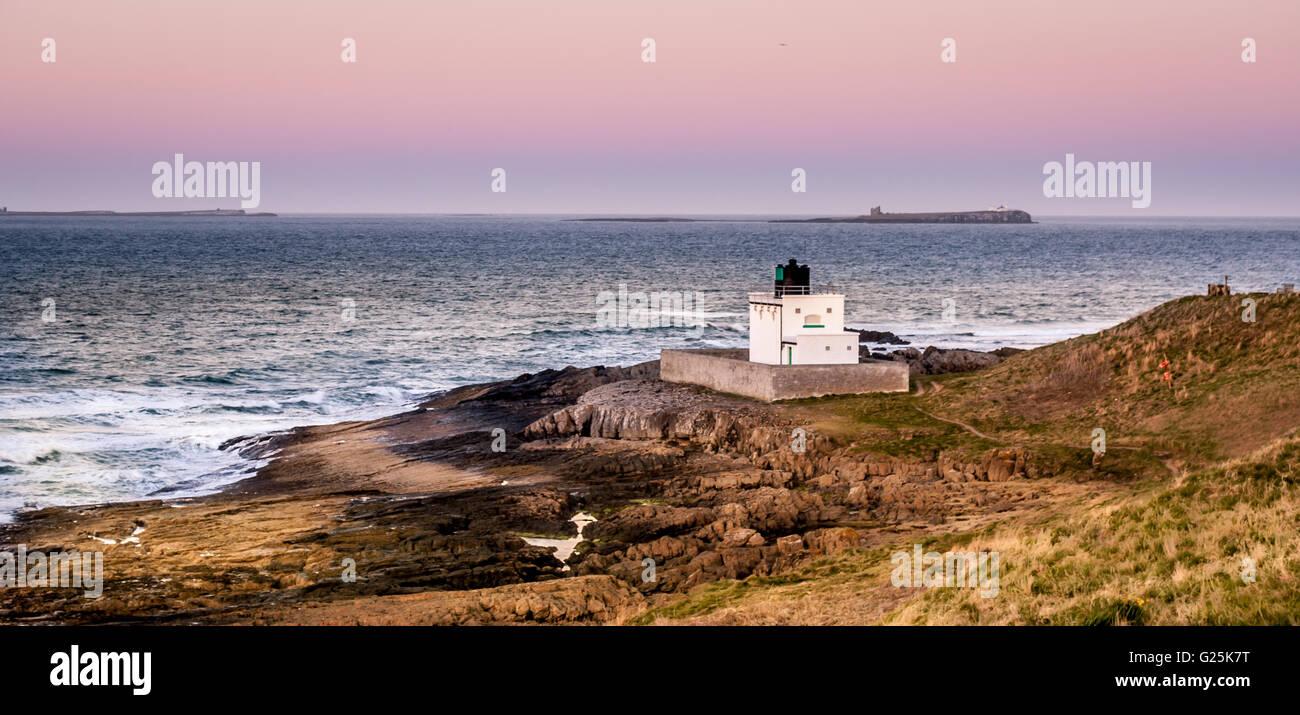 The Bamburgh Lighthouse........... Stock Photo