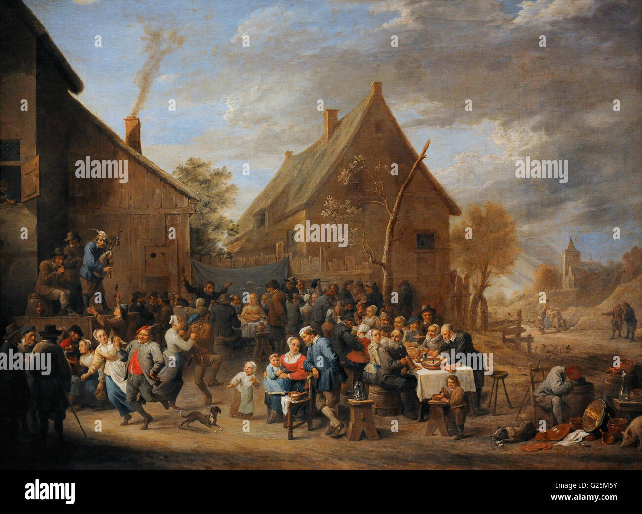 David Teniers the Younger (1610-1690). Baroque painter. Village Wedding, 1650. Oil on canvas. The State Hermitage - Stock Image