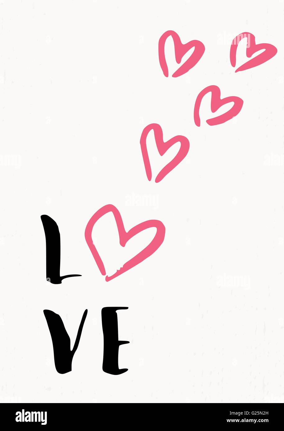 cute and modern typographic design st. valentine's day greeting card