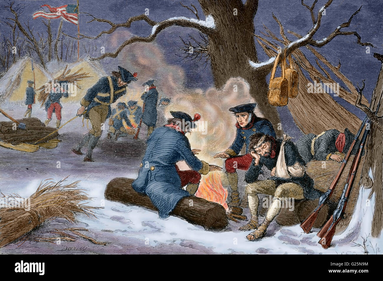 winter valley forge essay The continental army & washington  was embedded with washington's troops and had just written a now-famous essay on the back of a drumhead  that winter at valley forge close to the.