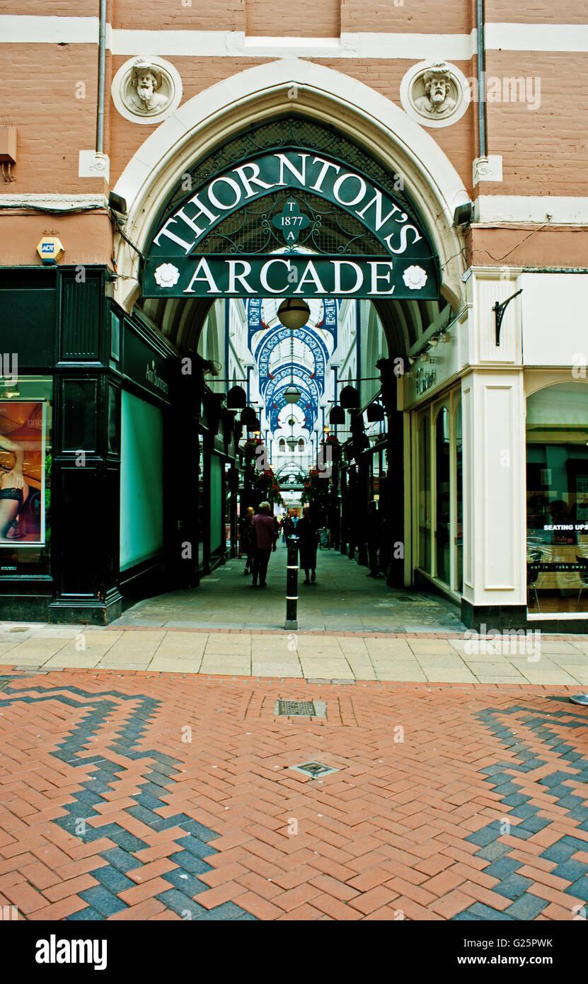 Thorntons Arcade, Leeds - Stock Image