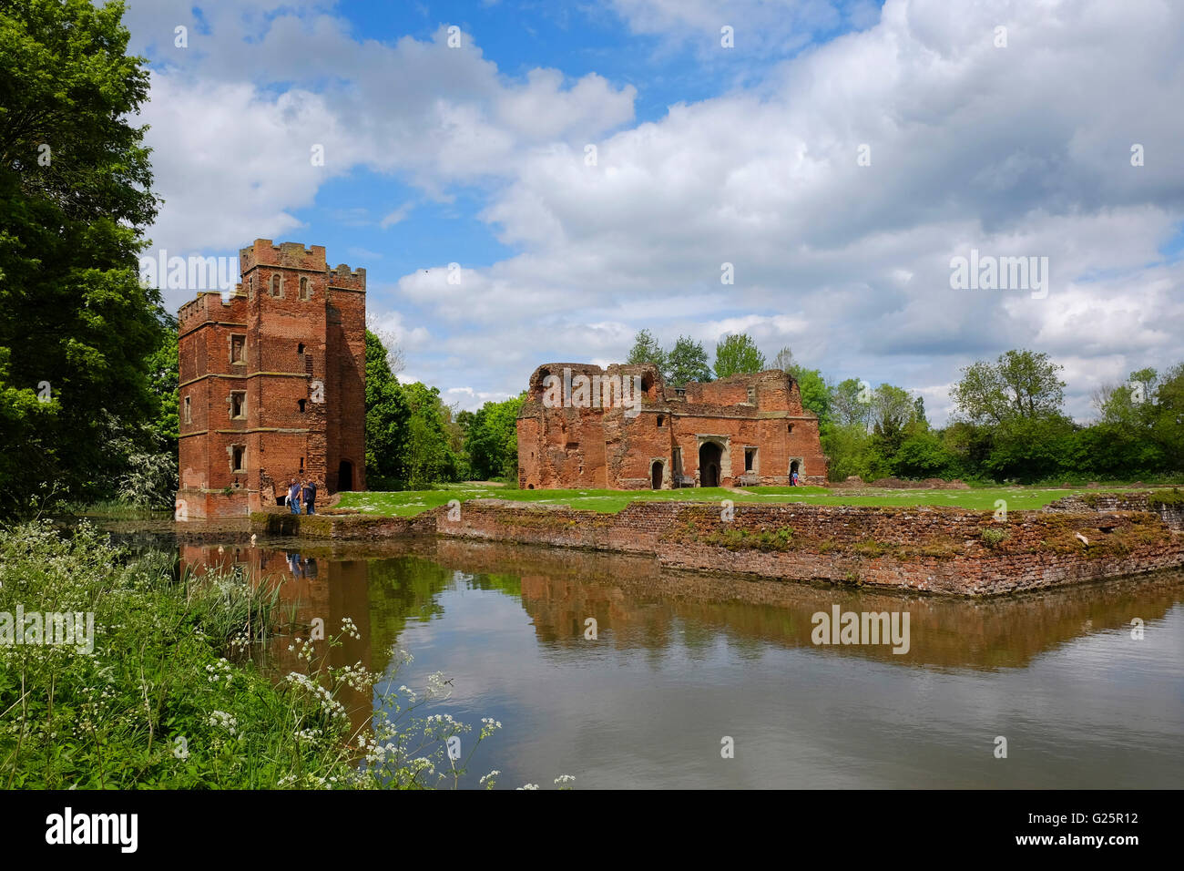 Kirby Muxloe Castle ruins, Leicestershire, England, UK - Stock Image