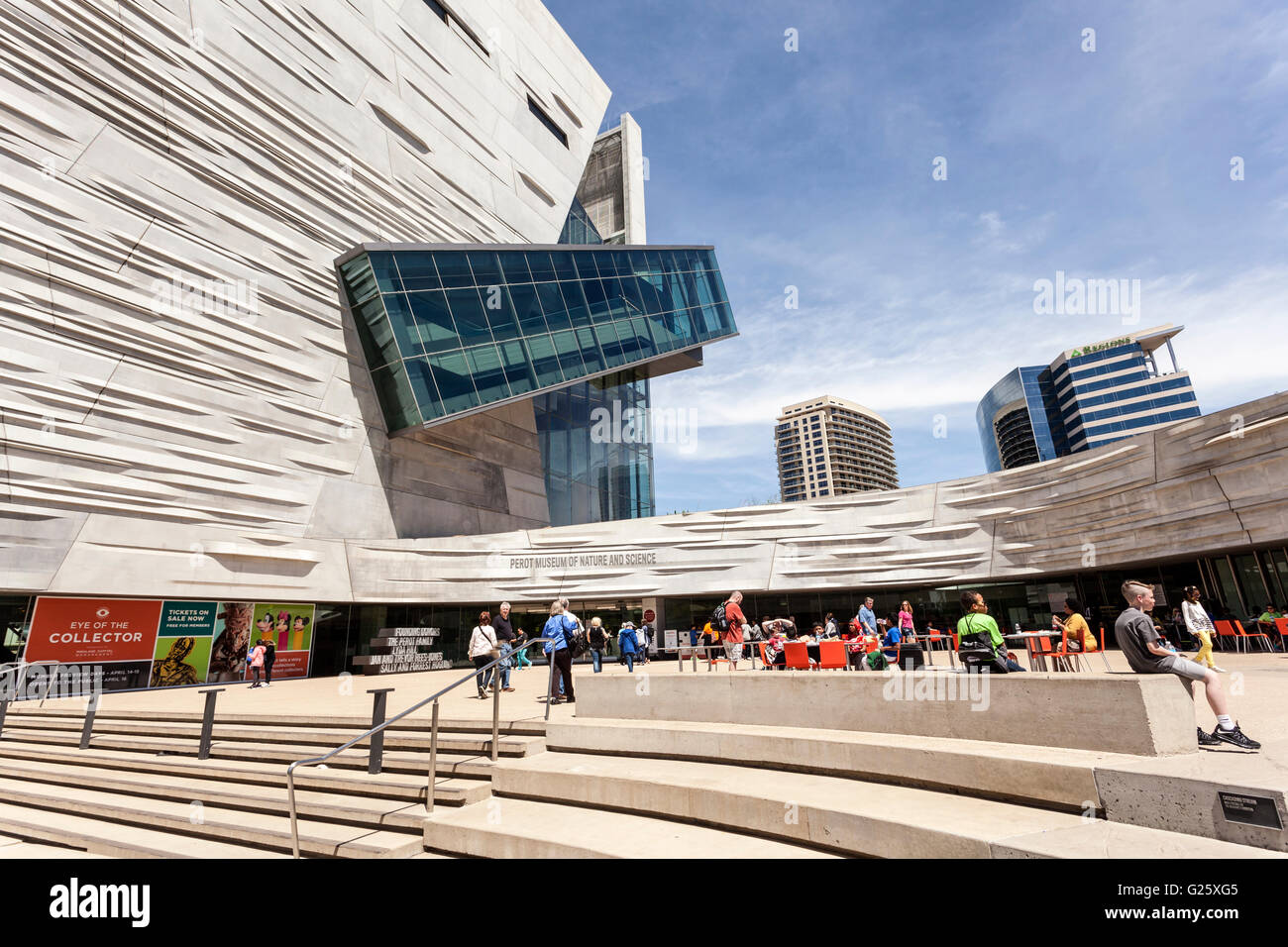 The Perot Museum of Nature and Science in Dallas, TX, USA - Stock Image