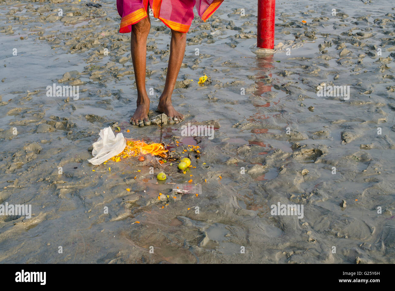 Woman Performing Rituals - Stock Image
