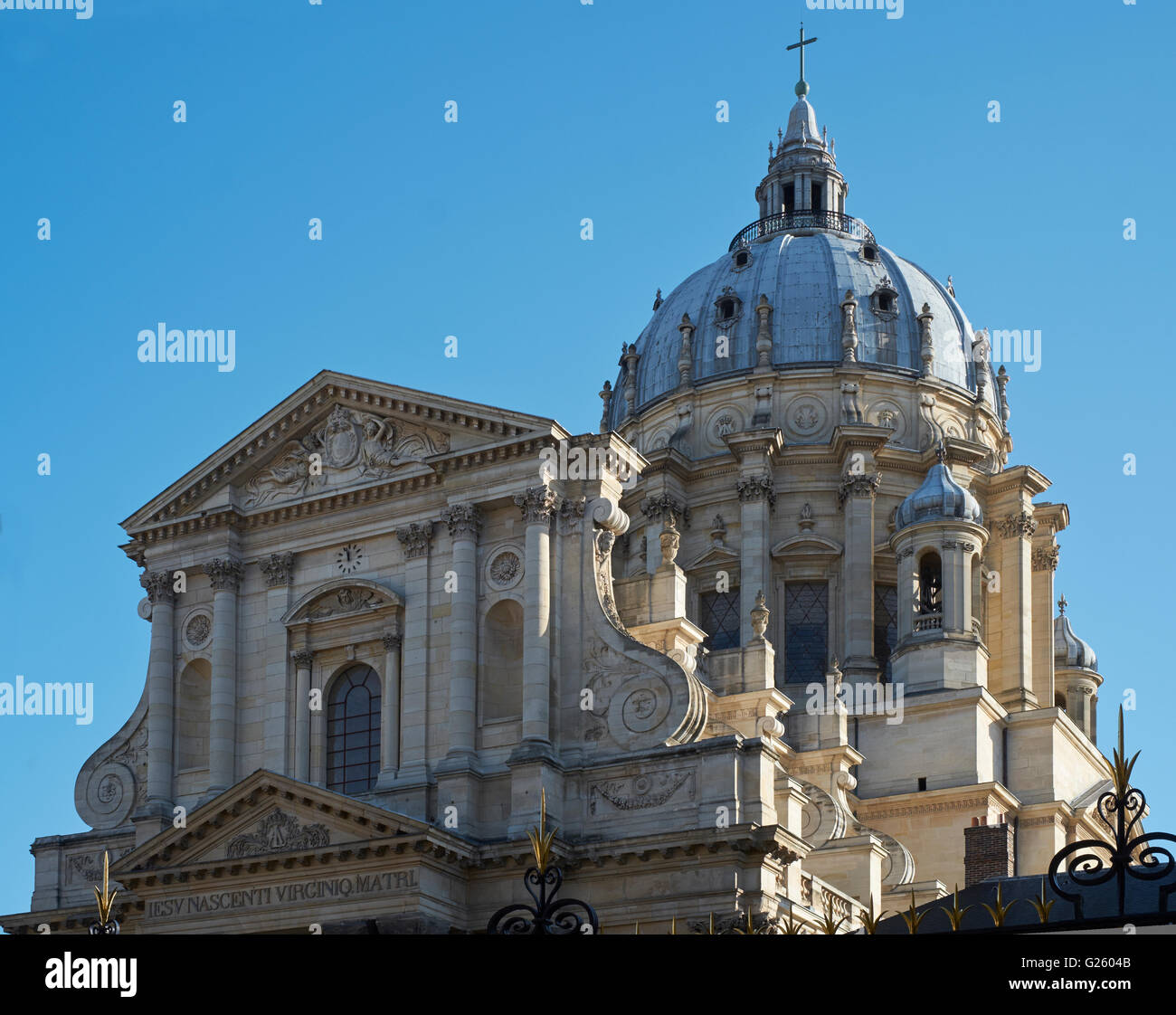 The domed church of the Val-de-Grâce in Paris, built in the 1640s. The facade was designed by François - Stock Image