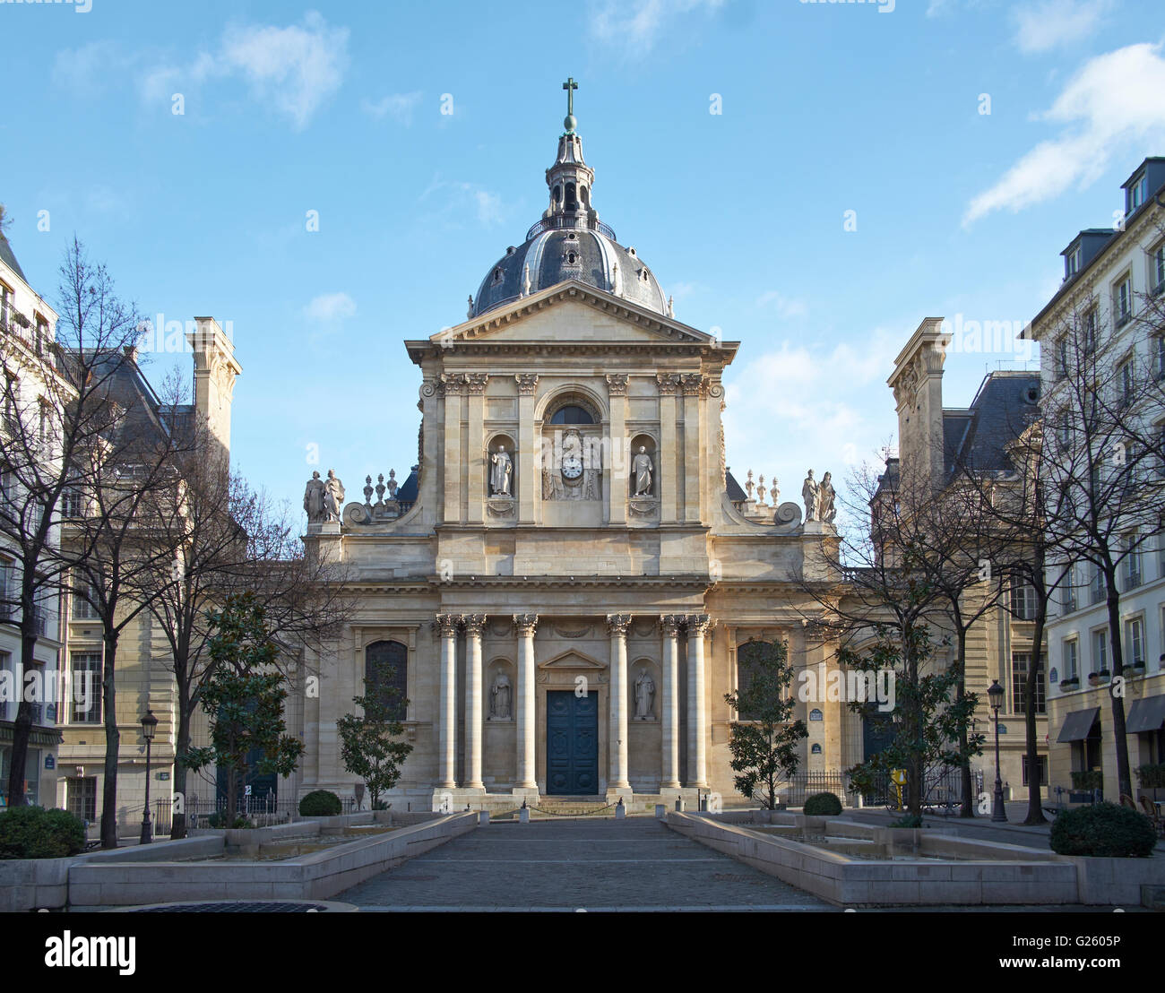 Church of the Sorbonne - Stock Image