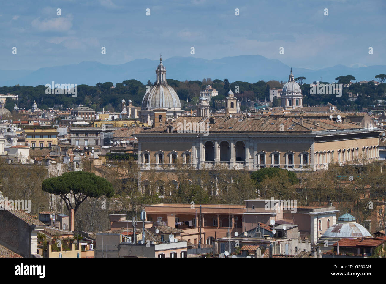 Rome: Panorama from St Pietro in Montorio - Stock Image