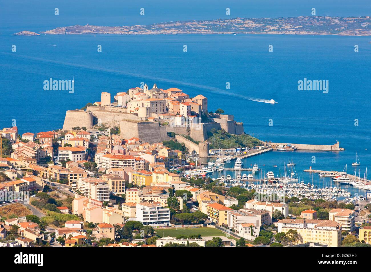 Citadel of Calvi, Corsica, France - Stock Image